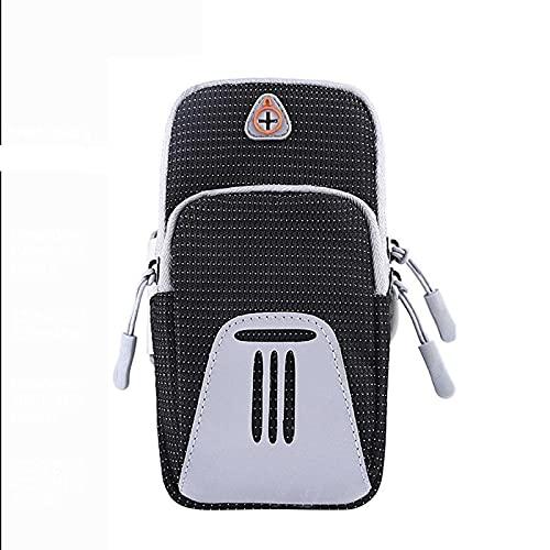 AMYMGLL Sport Handytasche Outdoor Reflektierende Laufarm Tasche Große Kapazität Benutzerdefinierte Handy Armbeutel Groß,Black