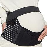 Sharplace Cinturón de Maternidad Soporte para La Espalda Durante El Embarazo Soporte para El Vientre de Primera Calidad - Negro