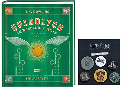 Harry Potter SCHMUCKAUSGABE: Quidditch im Wandel der Zeiten + 1 original Button