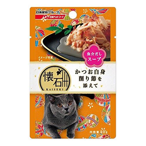 日清ペットフード 懐石レトルト『かつお白身 削り節を添えて 魚介だしスープ』