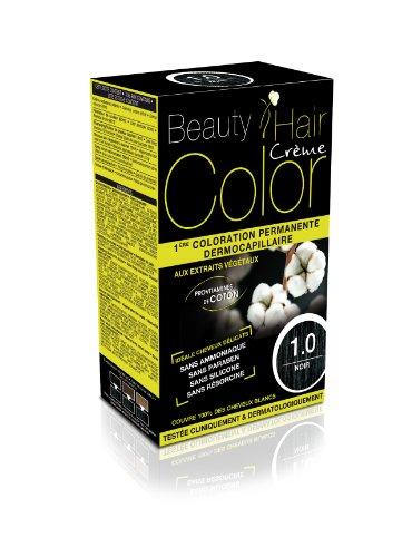 Beauty Hair Color - BHC10 - Coloration Permanente aux Extraits Végétaux - 1.0 Noir