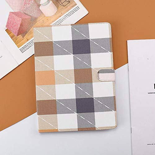 Jennyfly 2019 iPad 10.2 7th Gen Hülle, Premium PU Leder Easy Viewing Multi-View Folio Hülle mit Magnetschnalle Hand Free Stand PC Back Shell Schutzhülle für 2019 7th Gen iPad 10.2 - Braun