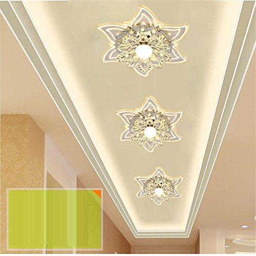 BRIGHTLLT Luz de entrada de cristal de la sala de corredor de...