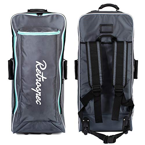 Ten Toes SUP Emporium Ten Toes Nomad Istand Up Paddle Board Roller Bag with Wheels, Graphite & Teal