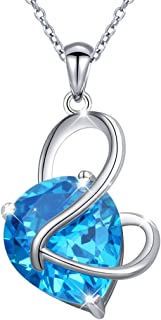 Best real blue zircon necklace Reviews