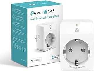 TP-Link Kasa Smart Wifi Plug | Diseño compacto | No se requiere Hub | Compatible con Google Home/Amazon Alexa | Control remoto | 16A 3680W (KP105), Blanco