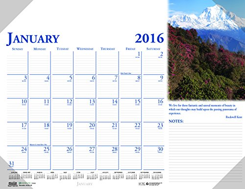 House of Doolittle 2016 Monthly Desk Pad Calendar, Earthscapes Scenic, 22 x 17 Inches (HOD144-16)