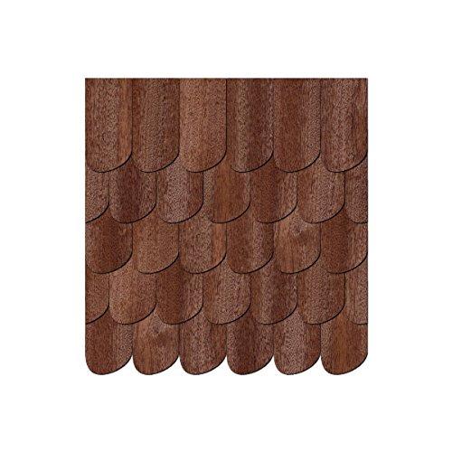 Chapa de madera auténtica Tejas oscuros. Negro Bosque forma Izquierda–Tamaños y cantidad de selección de, 500 unidades, 40mm x 20mm