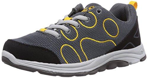 Jack Wolfskin Jack Wolfskin Unisex-Kinder Fairport Low K Sneakers, Grau (Burly Yellow 3800), 31