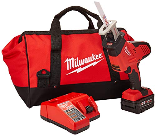 MILWAUKEE'S 2625-21 M18 18V Hackzall Cordless One-Handed Reciprocating Saw Kit