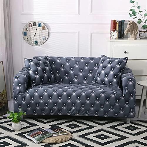 MKQB Funda de sofá de Sala de Estar Moderna y Simple, Funda de sofá elástica elástica, Funda de sofá Antideslizante con combinación de Esquina en Forma de L NO.2 S (90-140cm