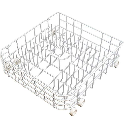 Supplying Demand WD28X10335 Lower Dishwasher Dish Rack Assembly With Wheels For 1810244 & PS3486947 Not Universal Model Specific