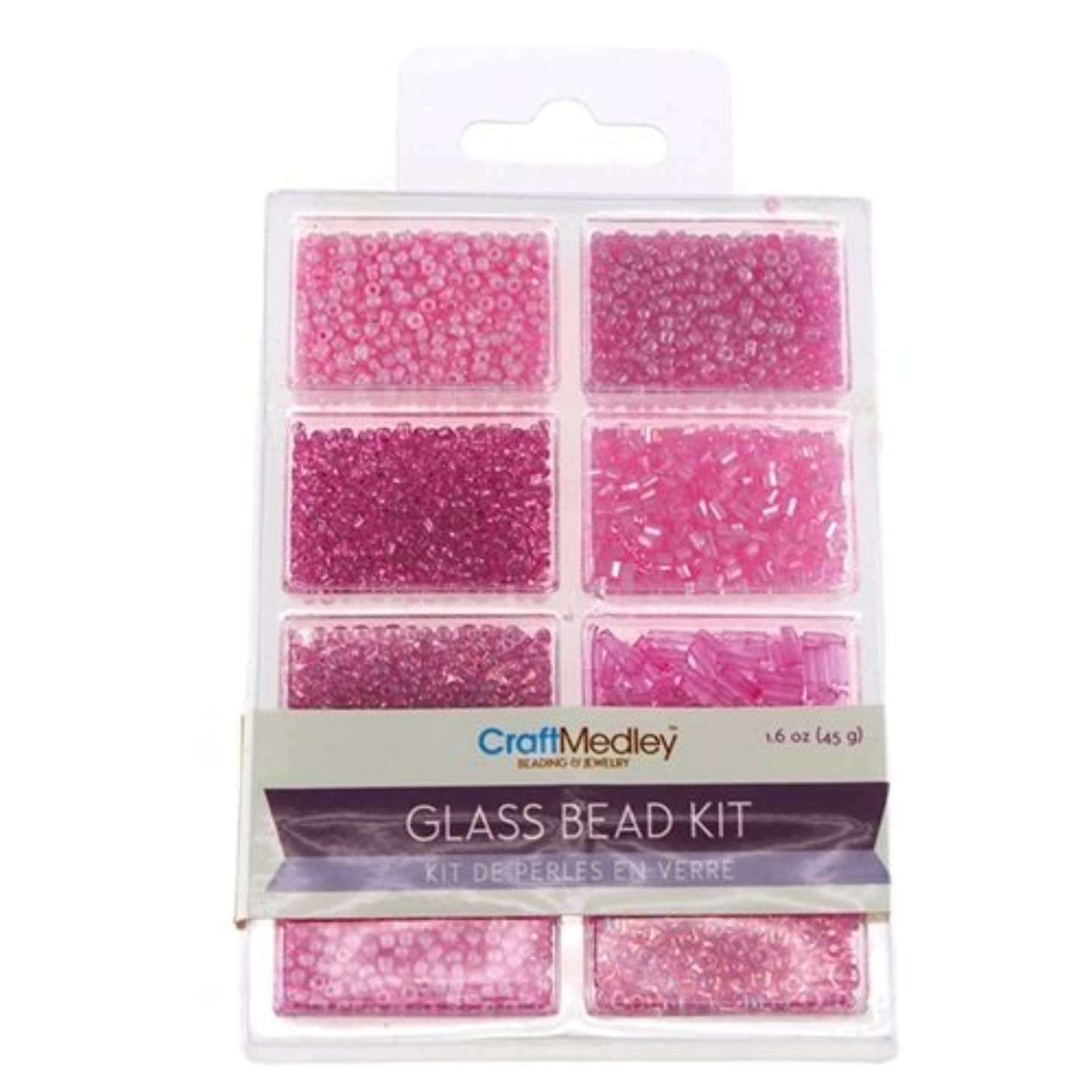 Homeford Firefly Imports Loose Glass Beads Kit, 45-Gram, Blush, 45g,