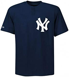 Majestic Two-Button New York Yankees Replica Adult Jersey 50/50 Blend SZ M (R14)