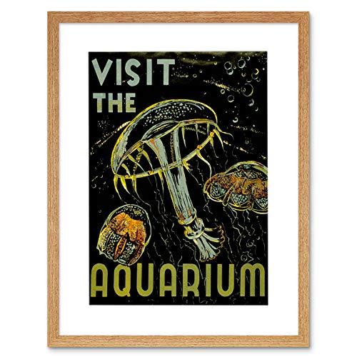 Wee Blue Coo Advertenties Bezoek Aquarium Marine Wezens Foto Ingelijste Muur Art Print