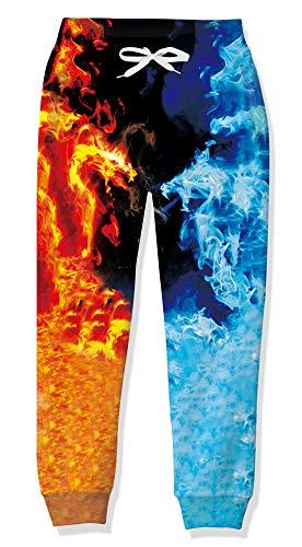 Jungen Jogginghose, 3D-Druck Wolken Jogger Baggy mit Pocket Sweatpants Bottom für Frühling Sommer Winter