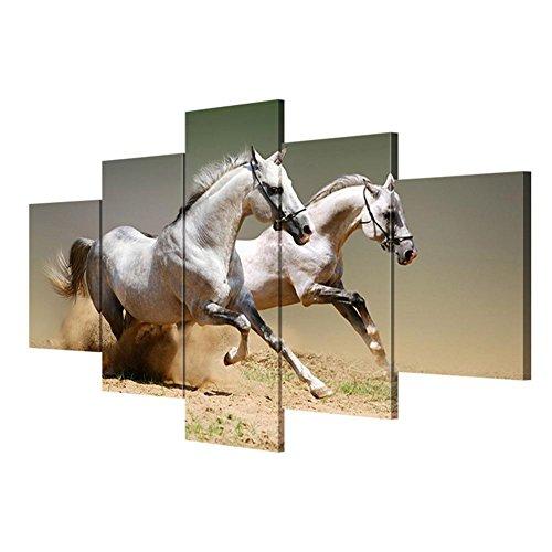 JJH-ENTER Lienzo Arte de la pared wall paiting Cuadro del caballo lienzo salón decoración pintura pintura mural , With Borders , SizeB