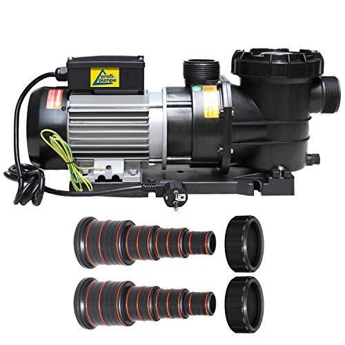 Schwimmbadpumpe, Poolpumpe - Filterpumpe Schwimmbad/Swimmingpool, energiesparsam zuverlässig und effektiv, leichte Filterreinigung (POOL-STAR-750W)