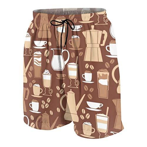 Ethnic Mandala Pattern Mens Beach Shorts Swim Trunks Stripe Quick Dry Casual Polyester Swim Shorts
