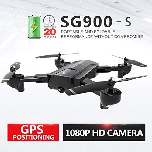 DEjasnyfall 3 Batterie HD Kamera H  Halten Folgen SG900-S 2,4G RC Drohne Selfie Smart GPS FPV Quadcopter mit 1080 P EIN Schlüssel Zurück (Schwarz