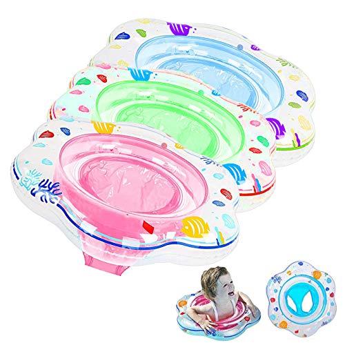 Zuzer Baby Schwimmring,3 Stück Aufblasbare Schwimmhilfe Schwimmring Pool Baby Schwimmsitz Schwimmhilfe Kinder Schwimmreifen 0-3 Jahre Alt