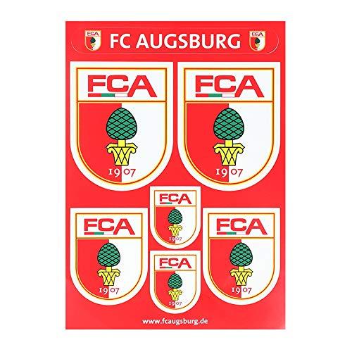 FC Augsburg Aufklebertafel 6er Set Rot Weiss
