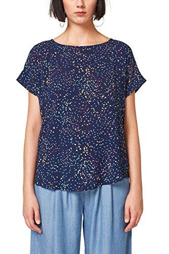 ESPRIT Damen 058EE1F011 Bluse, Mehrfarbig (Navy 400), 44