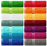 Lashuma Handtuch Set - Frotteeserie Linz - in 16 Farben und 6 Größen, Farbe: königs blau, 2er Set Handtuch 50x100 cm