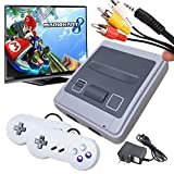 Retro Game Console,Classic Mini SFC Snes Game Console with Built-in 620 Games and 2 Pack Controllers,8-bit AV Output snes classic edition mini console for Kids and Adults.