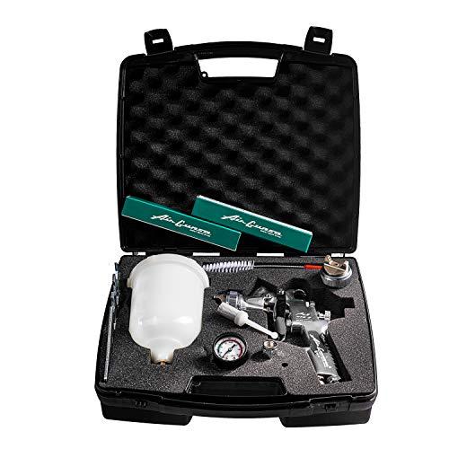 Airgunsa AZ3 HTE2 1.3mm, 1.5mm und 1.8mm Düse im erweiterten Benbow Master-Kit Koffer mit Iwata Druckregler, Reinigungsset, Pistolenschlüssel und Steckfilter 15-teiliges Set