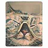 Mouse Pad Unique Custom Printed Mousepad Kittens Presbyopic Glasses Non-Slip Rubber 11.8 x 9.8 inch