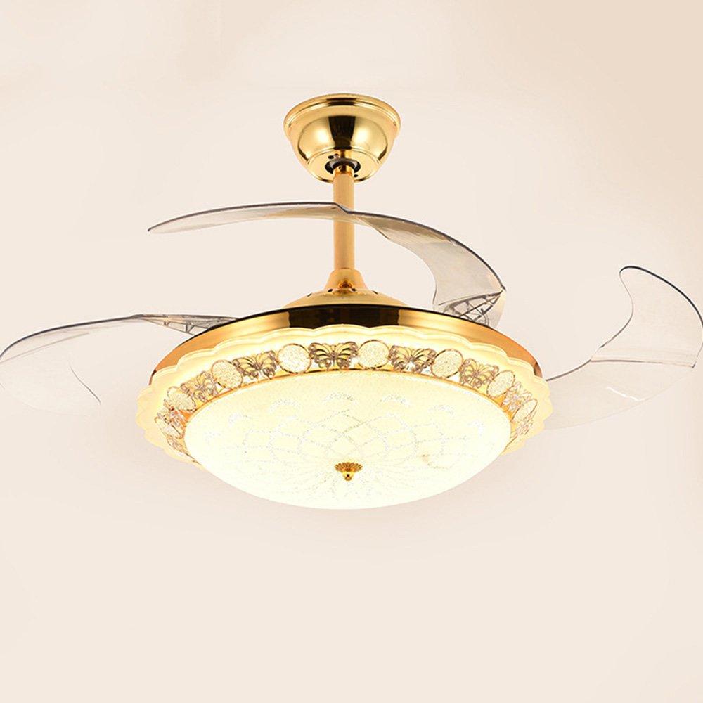 RS Iluminación 42 cm ventilador de techo con luz LED telescópica ...