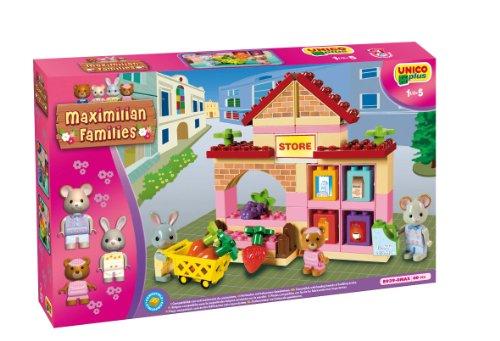 Unico- ANDRONI Giocattoli Costruzioni Plus Max Family M/Market, Multicolore, 8000796089397