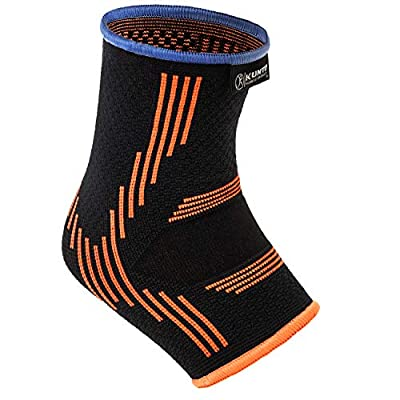 Kunto Fitness Ankle Brace Compression Support Sleeves (Pair) for Injury Recovery, Joint Pain, Swelling, Plantar Fasciitis & Achilles Tendon (Small)