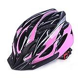 GCDN - Casco de bicicleta con visera, ajustable, ligero, para bicicleta de montaña, de carretera para adultos, jóvenes y niños, color Rosa y negro., tamaño Tamaño libre