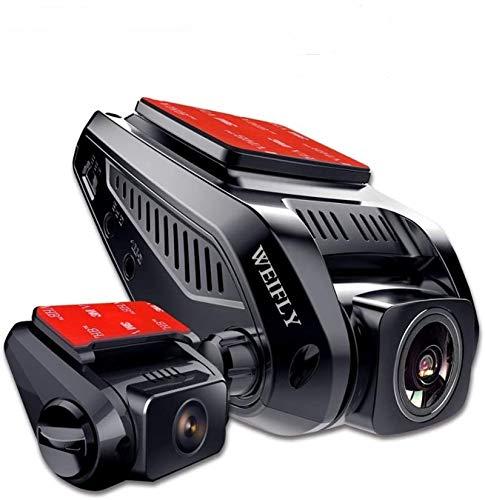 Caméra de Voiture GPS WiFi Grand Angle de 170° Caméra Embarquée Full HD 2160P, Dashcam Voiture Avec Objectif Réglable Écran 2.3Pouces IPS LCD, Enregistrement En Boucle,Détection de Mouvement,duallens