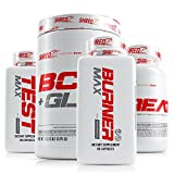 SHREDZ 30 Day Weight Loss Results Supplements Stack for Men, Clinically Tested Ingredients, Burner MAX, Creatine, Testosterone, BCAA + Glutamine (Fruit Punch)