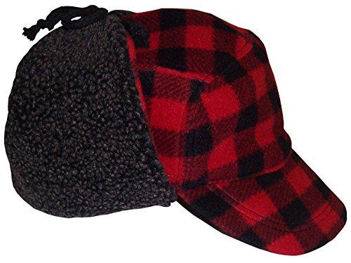 N'Ice Caps Big Boys and Teens Buffalo Plaid Elmer Fudd Hat (Teens (58 cm), Red/Black Plaid)