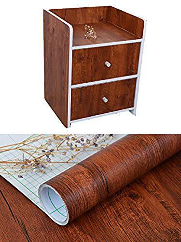 Decoratieve Faux Houten Graan Contact Papier Vinyl Zelfklevende Plank Lade Liner voor Badkamer Keuken Kasten Planken Tafel Kunsten en Ambachten Decal 24x117 Inch