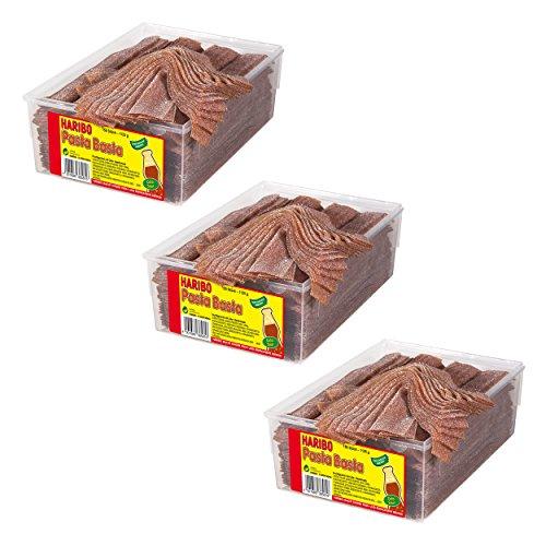 Haribo Pasta Basta Cola Sour, 3er Pack, Gummibärchen, Weingummi, Fruchtgummi