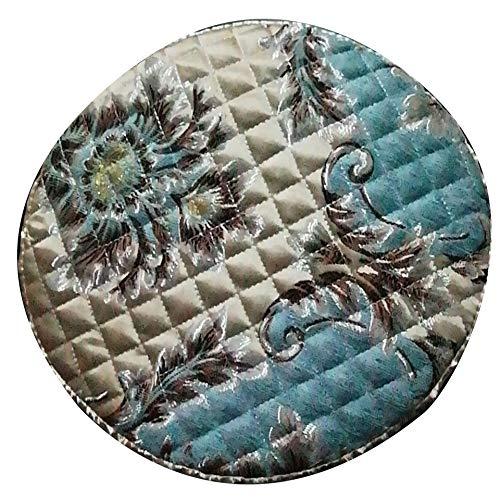 1 coussin rond élastique pour chaise de mariage, restaurant, tabourets de bar, extensible, lavable, F, diameter 28 x5cm