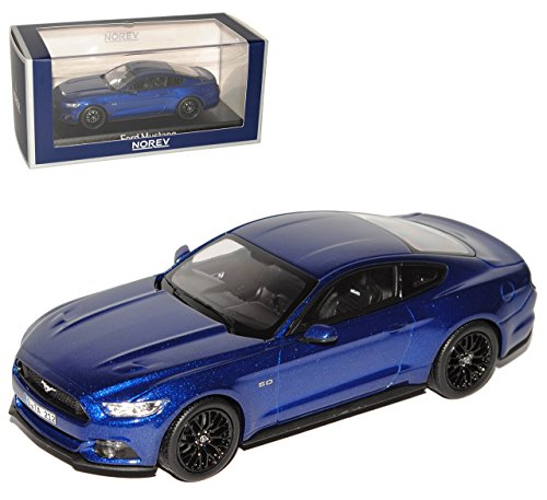 Norev Ford Mustang VI Coupe Blau Ab 2014 1/43 Modell Auto