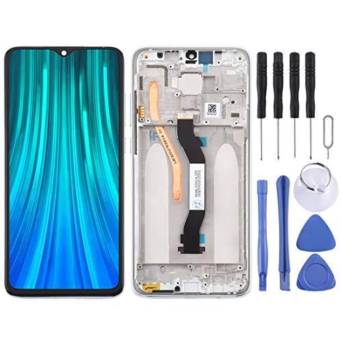 ZHUHAI vervangende display LCD-scherm en Digitizer volledige montage met frame voor Xiaomi Redmi Note 8 Pro (zwart) scherm vervangende kit + volledige reparatie gereedschap, Kleur: wit
