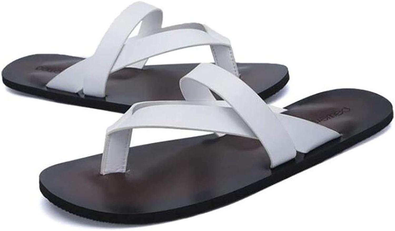 Men's Summer Personality Anti-Skid Flip Flops British Trend Leather Sandals