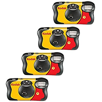 4 X FunSaver Disposable Camera with Flash 800 ISO from