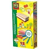SES creative 00208 Bunte Kreide mit Tafelwischer