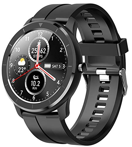 YGMDSL Orologio Sportivo Intelligente Orologio Intelligente da Polso Fitness Tracker Uomo Donna Quadrante Personalizzato Schermo Tattile Completo IP68 Orologio Fitness Smartwatch (Black)