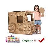 ROCK1ON DIY Doodle Spielhaus Kombination Rollenspiel Haus für Kinder Häuschen aus Pappe zum...