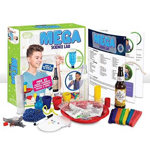 Be Amazing! Toys MEGA Science Lab   STEM Experiment Kit for Kids Age 8-12   Over 30 Activities in Chemistry, Physics and Biology - Ages 8+