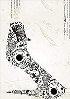 igsticker ポスター ウォールステッカー シール式ステッカー 飾り 515×728㎜ B2 写真 フォト 壁 インテリア おしゃれ 剥がせる wall sticker poster 000115 ユニーク ハイヒール 靴 お花 英字